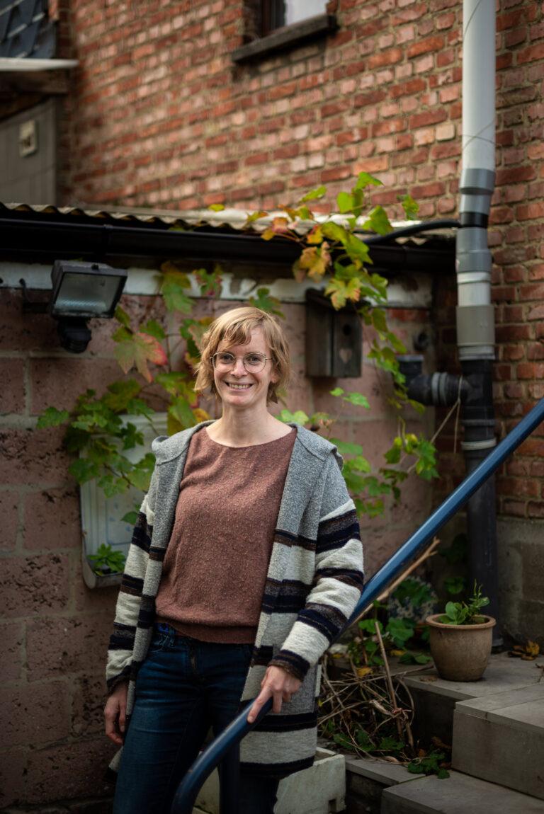 Katrien Moubax creëerde een groene oase in het midden van de stad.